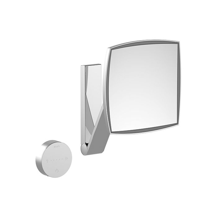 Keuco Miroirs Grossissants Miroir Grossissant Ilook Move 17613019002 Carre Lumineux Sans Cable