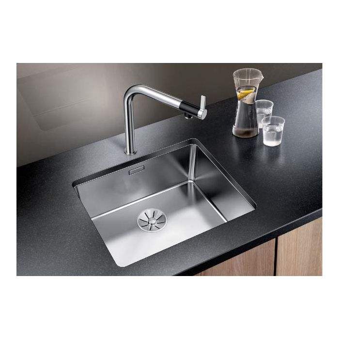 blanco andano 500 u sink 522967 54x44cm stainless steel silk gloss for stainless steel