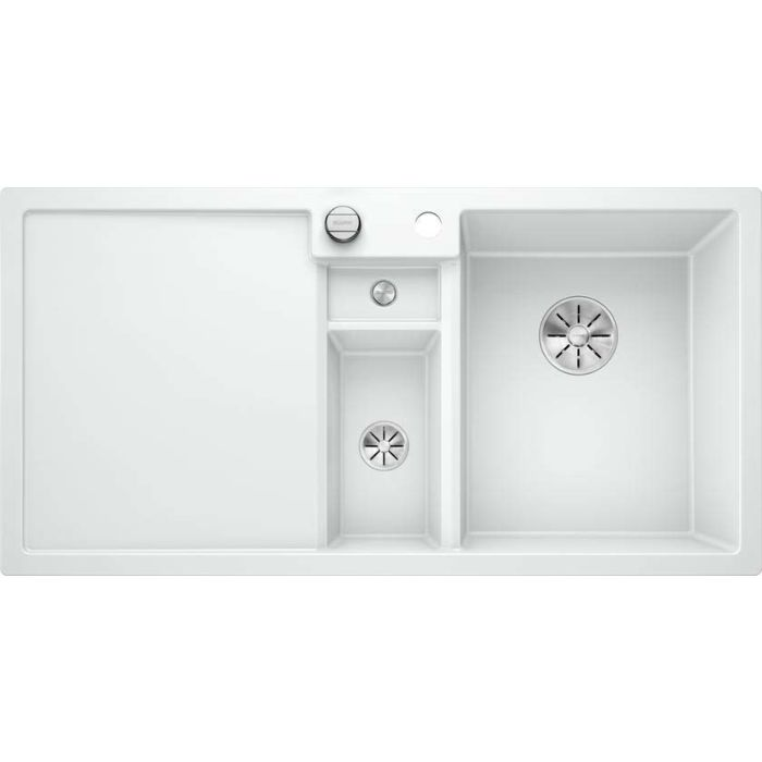 blanco collectis 6 s silgranit sink 523348 100x51 cm white basin on the right with drain remote control accessories