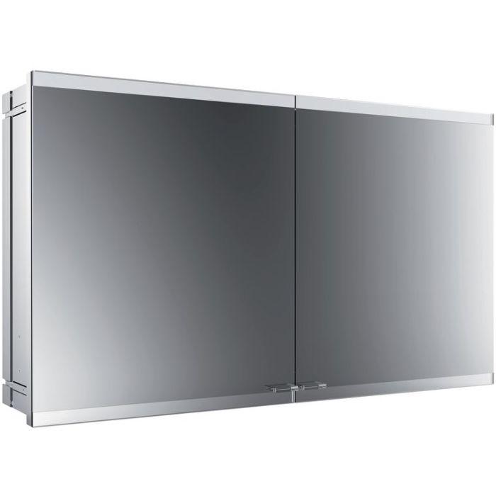 Emco Asis Evo Armoire De Toilette Avec Eclairage Encastre 939708016 1200x700mm 2 Portes Avec Systeme D