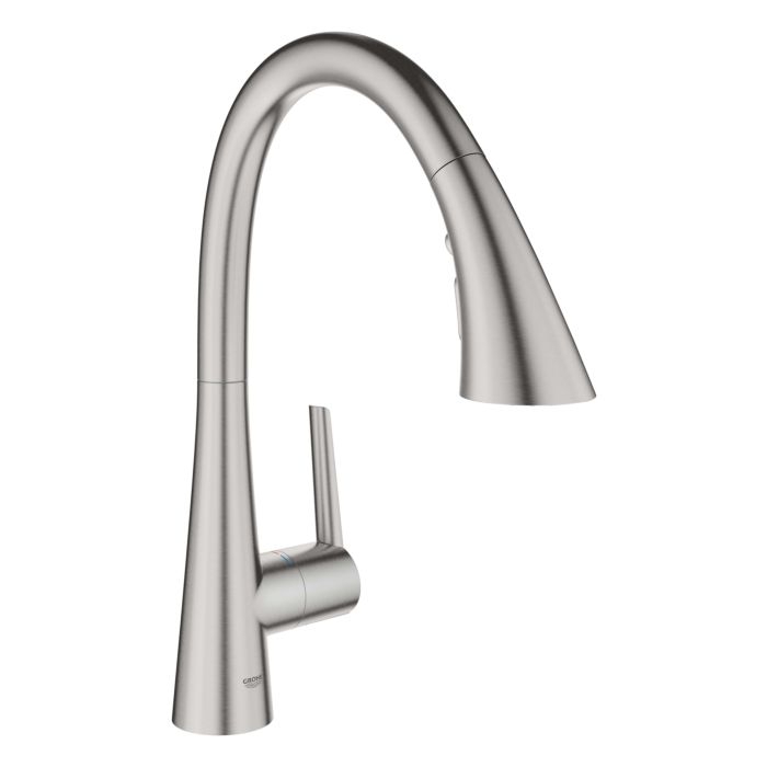 grohe zedra kitchen faucet 32294dc2 supersteel pull out shower