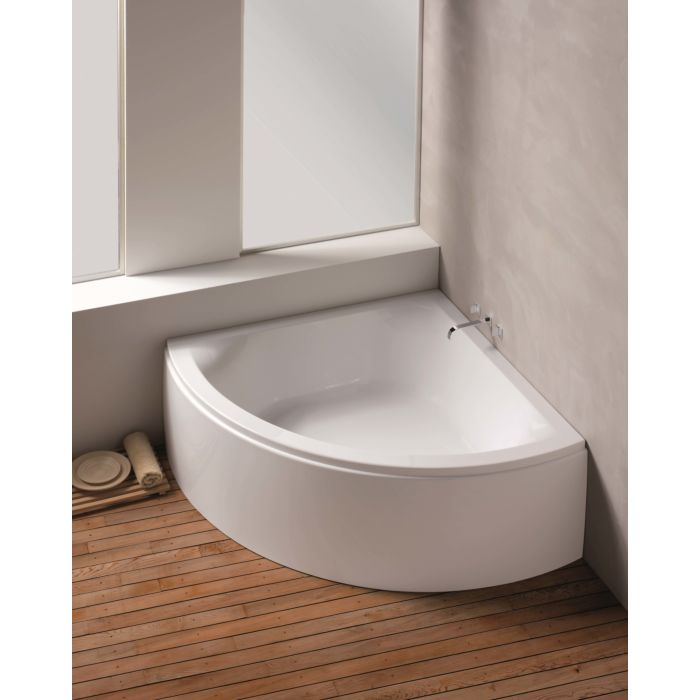hoesch scelta baignoire d angle 3678 010 154 x 154 cm blanc avec tablier lache