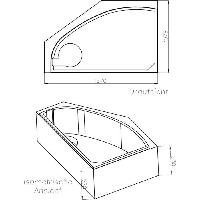 schedel keramag renova nr 1 support de baignoire d angle sw13042a 150x100cm droite avec etagere hauteur 57cm