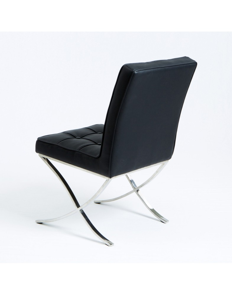 genuine leather dining chairs melbourne chair arm covers grey pandora black