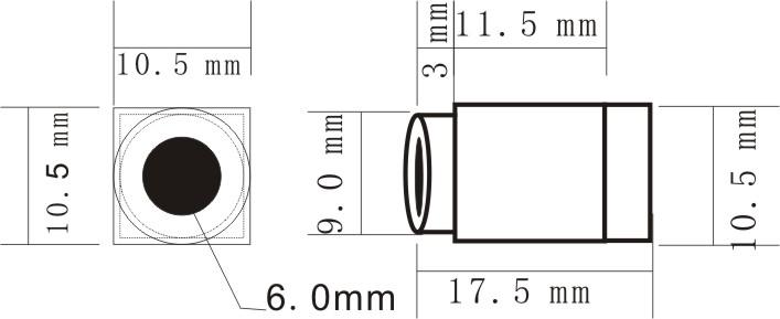 0.008Lux 520TVL Mini CCTV Camera 90degree view angle with