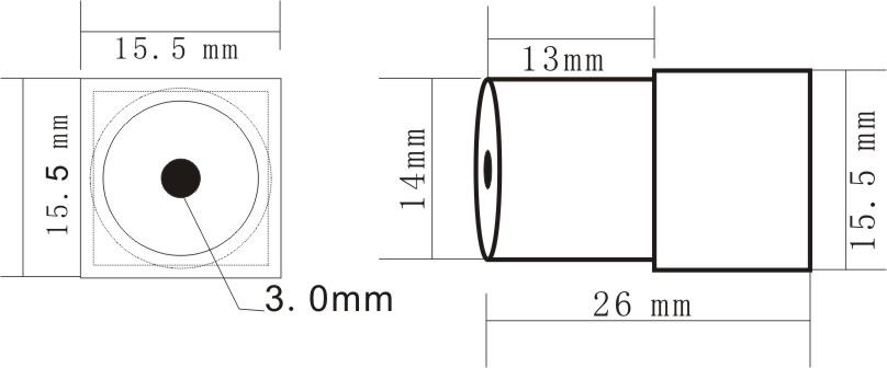 170deg view anlge 1/4 cmos 480TVL mini camera with audio