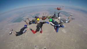 Skydiving choreography