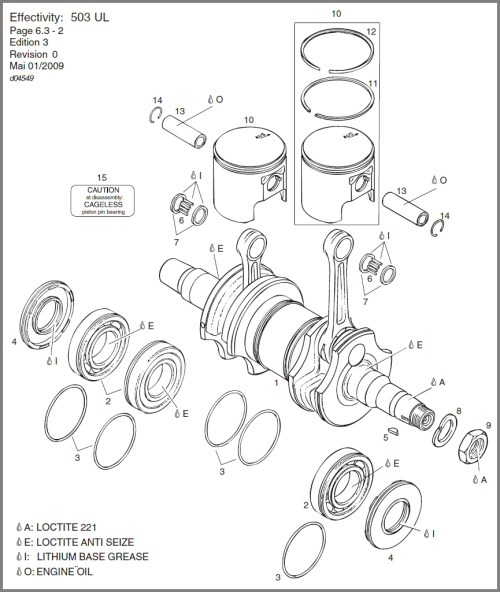 small resolution of 503 crankshaft main bearings pistons diagram
