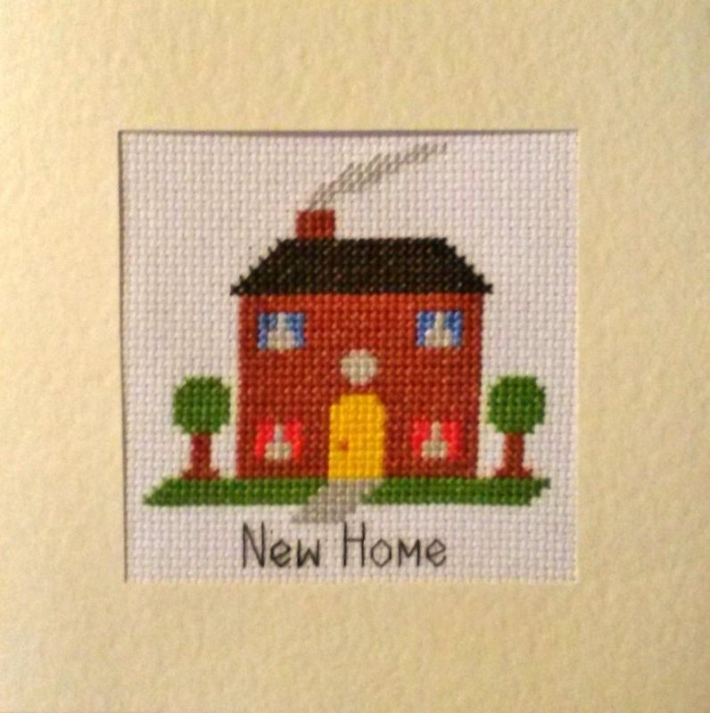New Home House Design Cross Stitch Card Kit 5 5 X 5 5