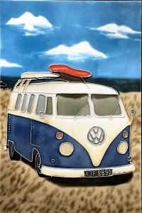Campervan art tile - Skye Tiles - Hand Painted Ceramic ...