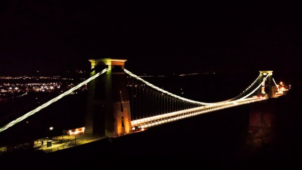 Clifton Suspension Bridge at Night