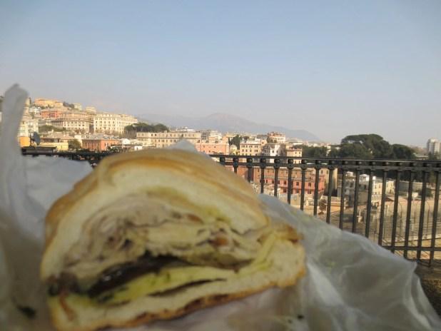 Eating Sandwich on Hilltop