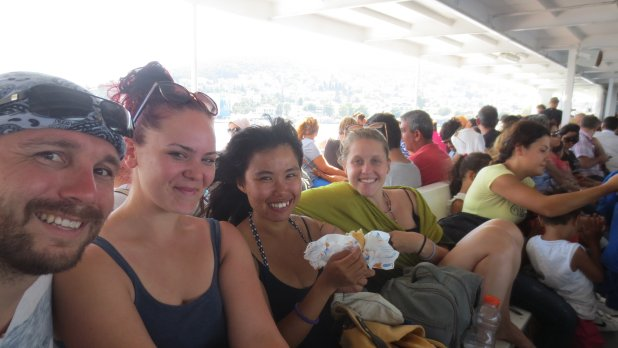 Tess, Julia, C and I on Ferry