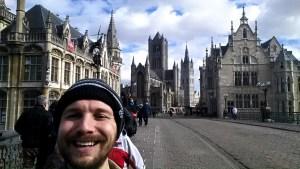 Three Towers in Ghent, Belgium