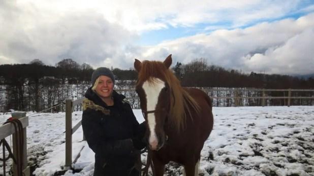 Helga with Horses