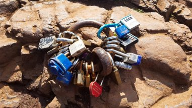 Locks on Arthur's Seat