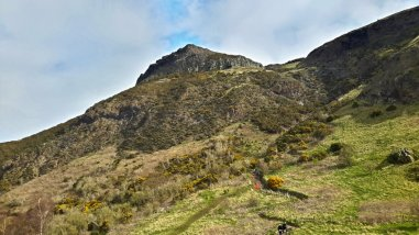 Looking Up Arthur's Seat