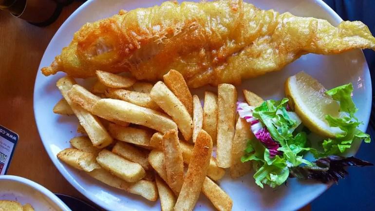 Fish and Chips at Skein Inn (Eat in Edinburgh)