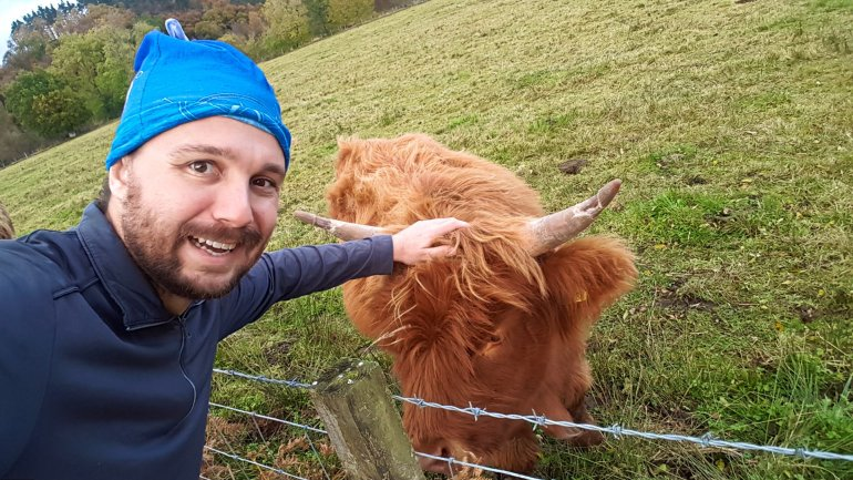 Selfie with Hairy Coo (Day Trips from Edinburgh)