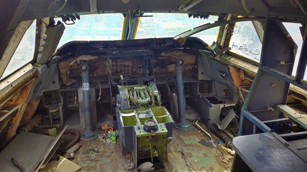 Boeing Cockpit in the Airplane Graveyard