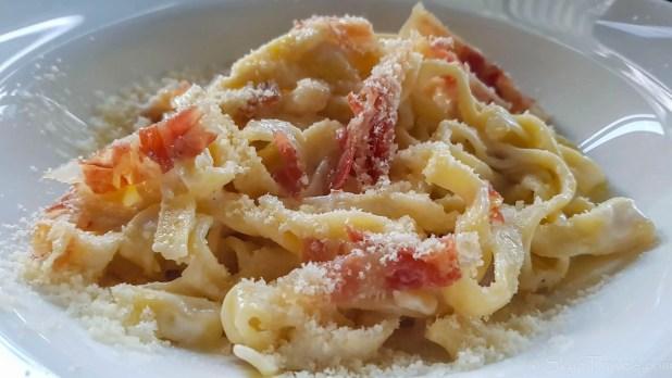 Pasta Carbonara at Mafia Restaurant