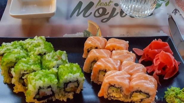Sushi at Mafia Restaurant