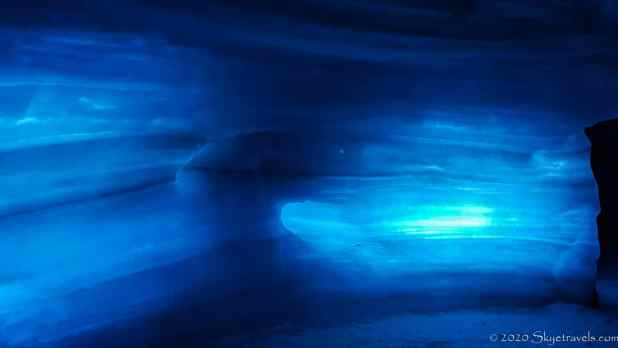 LED Lights in the Ice Cave