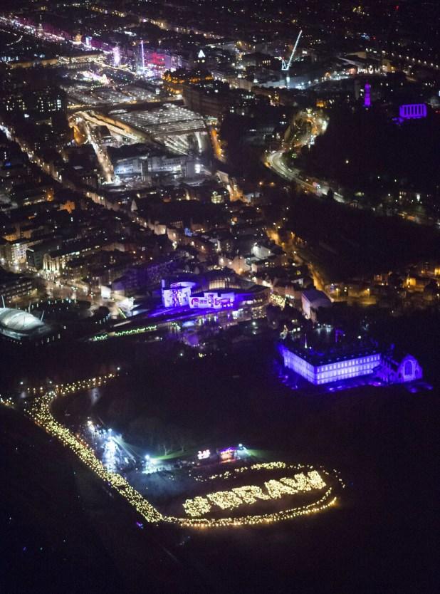 Edinburghs Hogmanay Torchlight Braw is ScotWord (c) Ian Rutherford