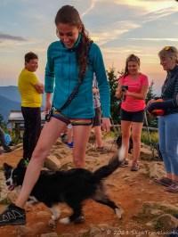 Dog at Lysa Hora Sunset