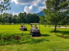 Riding the Golf Carts at Prosper Golf Resort