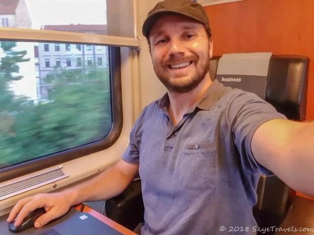 Selfie on RegioJet