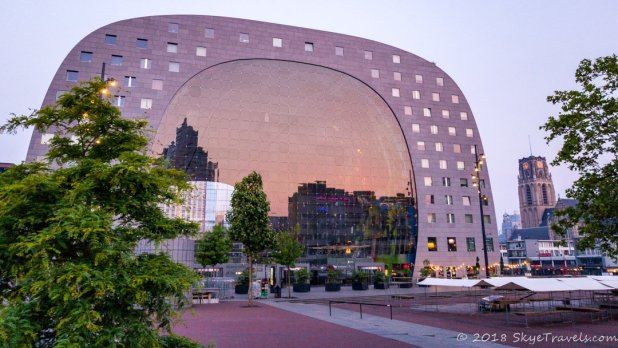 Rotterdam Markthal at Sunrise