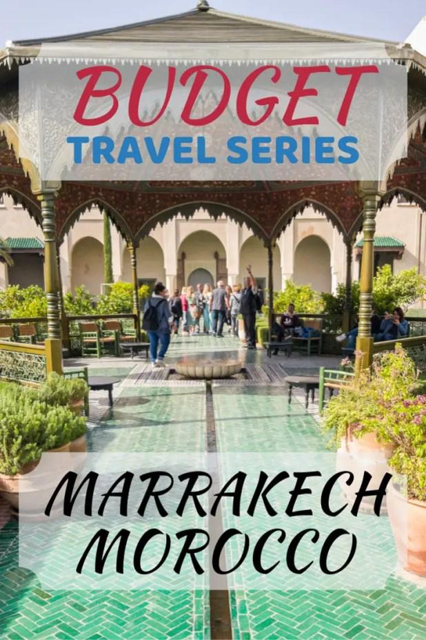 Marrakech Budget Travel Series Pin Pin