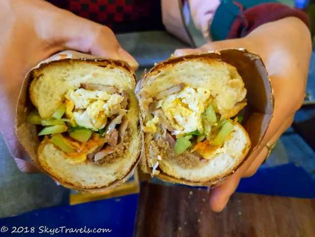 Banh Mi on Street Food Tour in Hanoi