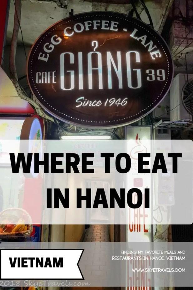 Restaurants in Hanoi
