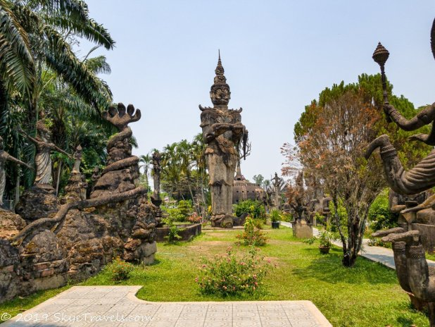 Buddha Park Statues #22 - Giant Carrying Princess