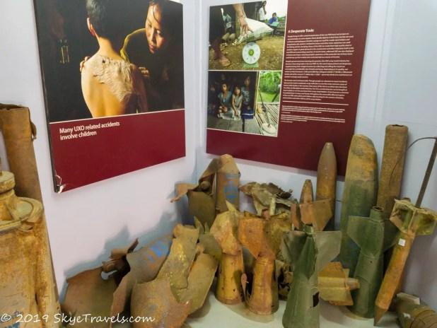 UXO Museum Shrapnel
