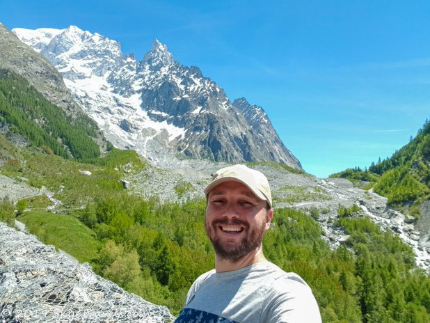 Selfie with Mont Blanc Beginning my Road Trip Through Switzerland