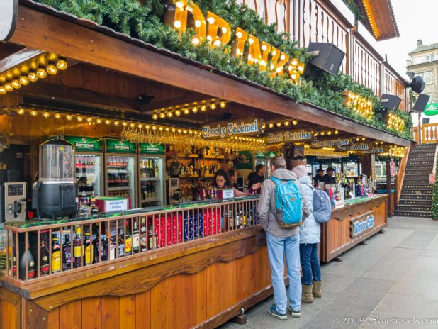 Drinks at the Luxembourg Christmas Market
