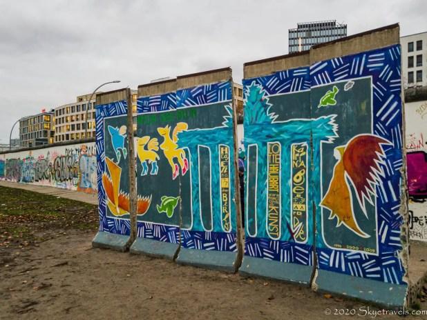Berlin Wall in the East Side Gallery