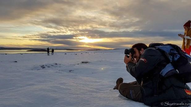 Luis Taking Photos at of Iceland's Sunrise