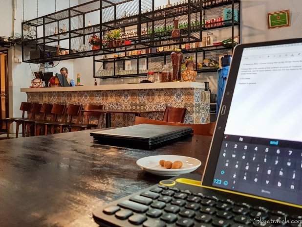 Working in a Cafe in Vietnam