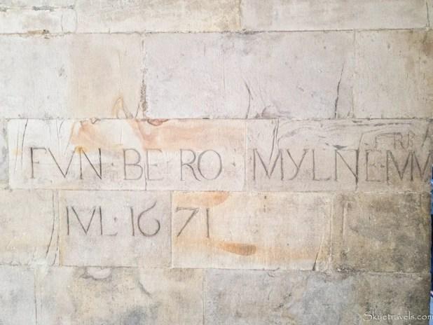 Holyrood Palace Founding Stone