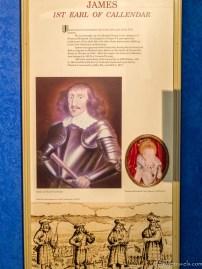 James 1st Earl of Callendar Panel