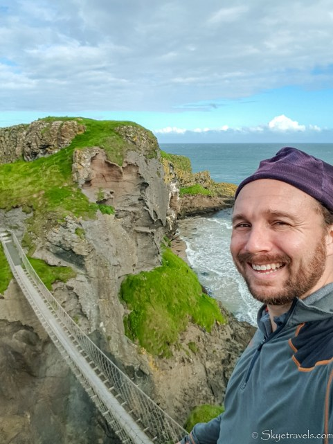 Selfie at Carrick-a-Rede