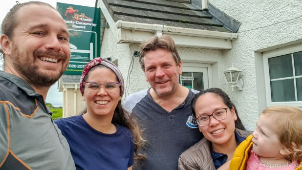 Selfie with Hosts at Finn McCool Hostel