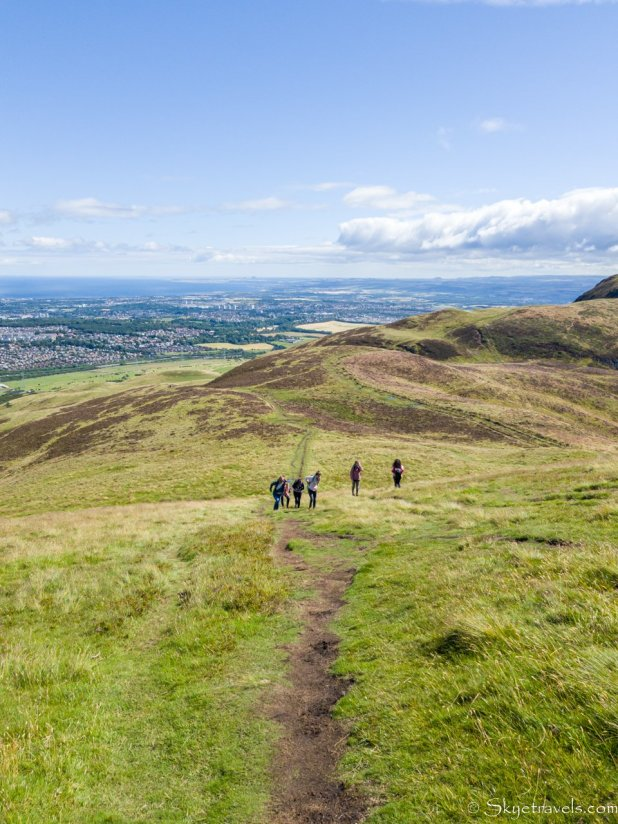 Hiking into the Pentlands