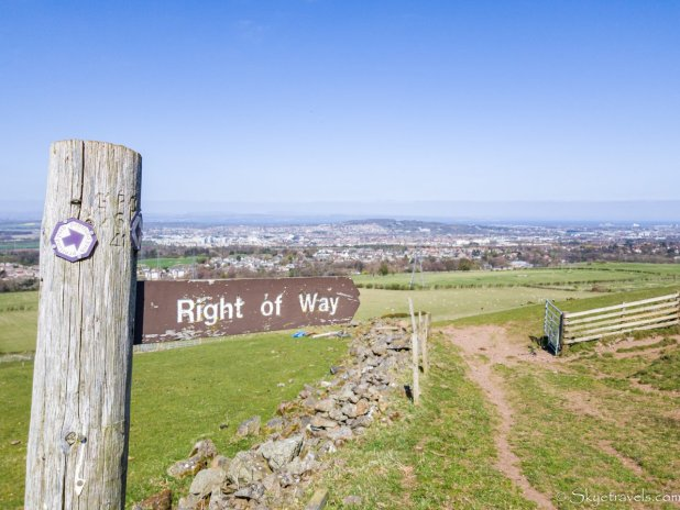 Right of Way Sign in the Pentlands