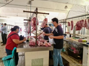 Meat Vendor at Mercado Santiago