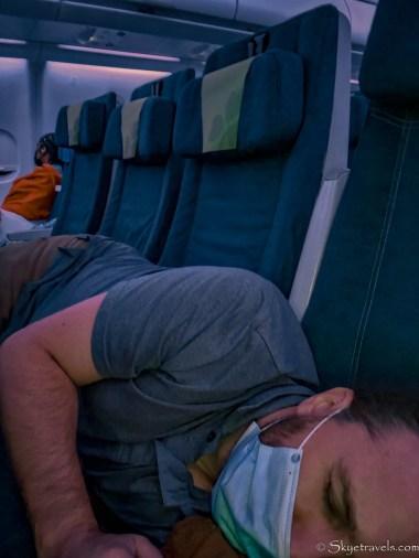 Selfie on Flight from Chicago to Dublin
